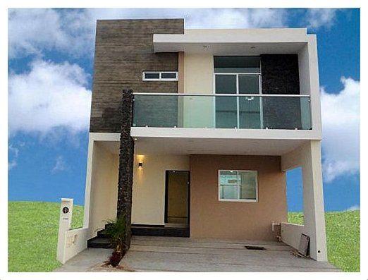 Casas modernas de dos pisos modelos de vivienda modernos for Ideas fachadas de casas pequenas