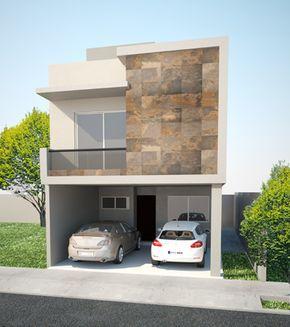 Casas modernas de dos pisos modelos de vivienda modernos - Diseno garajes para casas ...