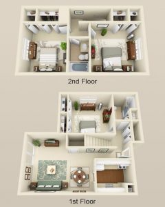 Planos de casas de dos plantas gratis