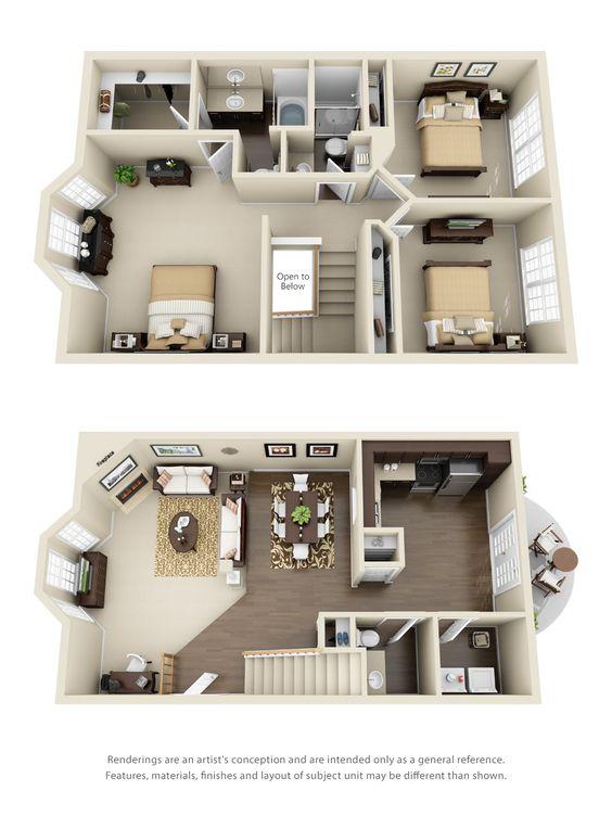 Planos de casas de dos plantas gratis Planos interiores de casas modernas