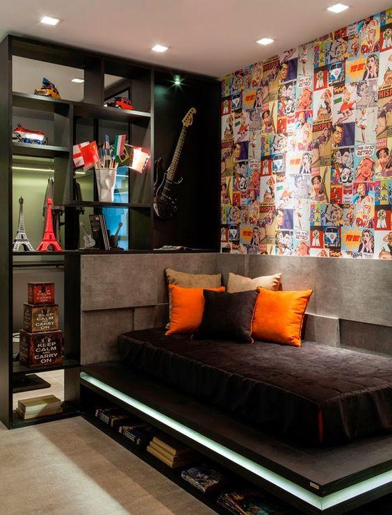 Dormitorios peque os ideas en decoraci n moderna y color - Cuadros juveniles chico ...