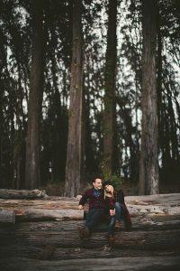 sesion de fotos en el bosque