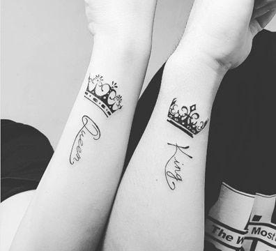 Tatuajes en pareja: tatuajes de coronas