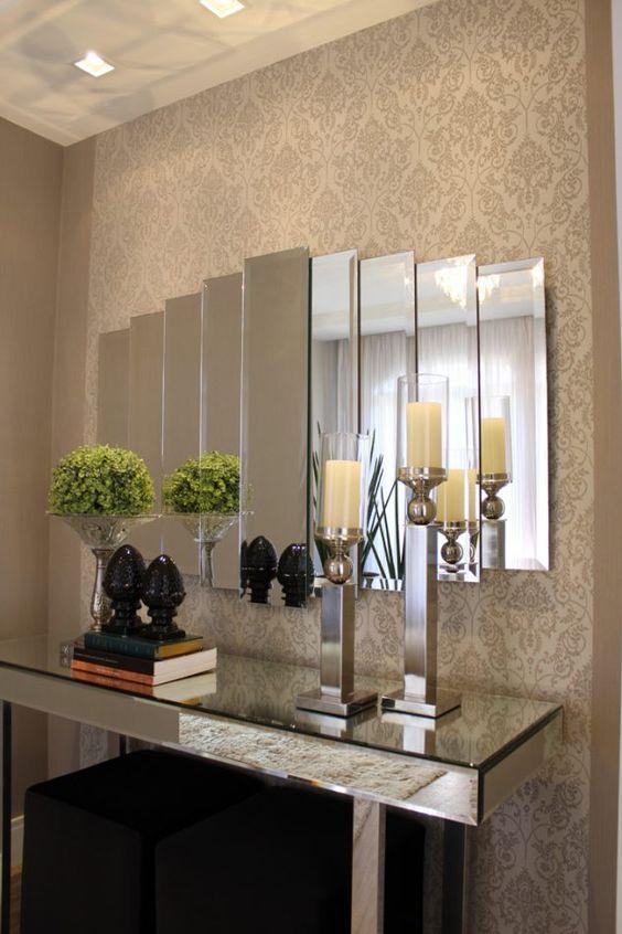 Una entrada bien iluminada decoracion de interiores - Espejos para hall de entrada ...