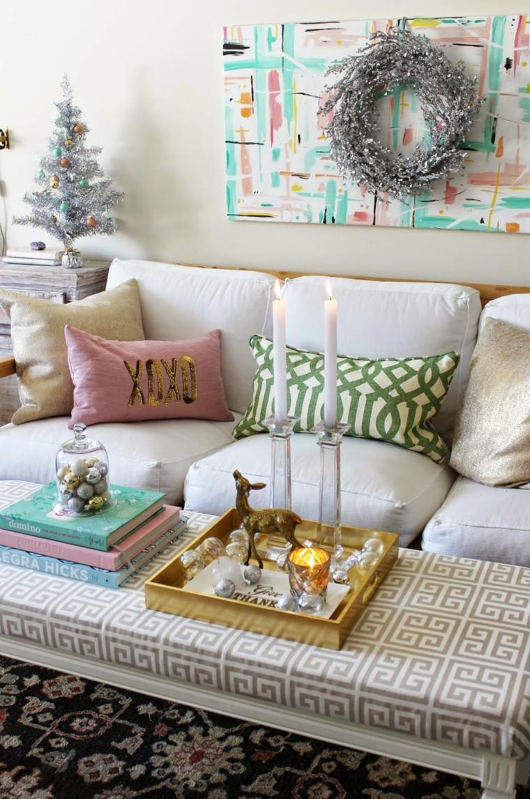 como decorar una sala pequena en navidad