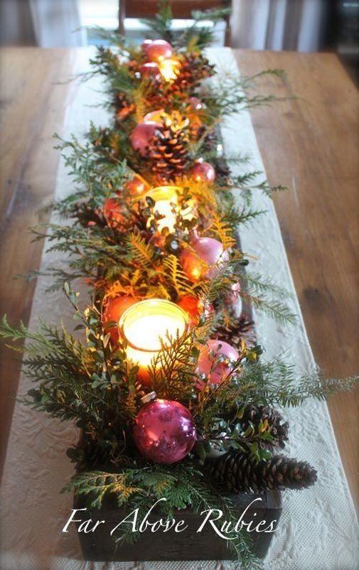 Tendencia en arreglos navide os 2018 2019 100 ideas para adornar la casa en navidad - Arreglos navidenos para la casa ...