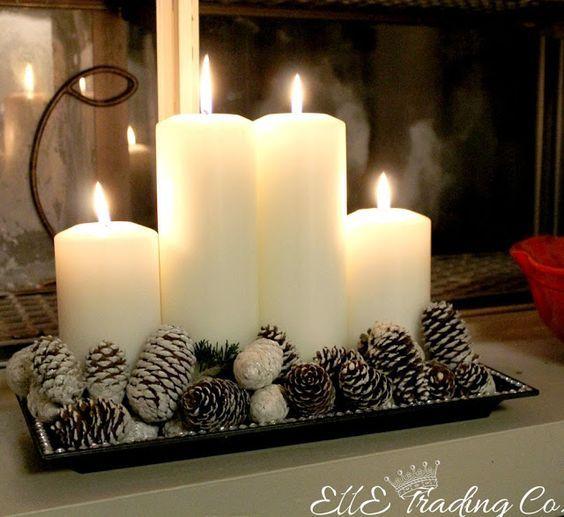arreglo navideno con velas 2018 4
