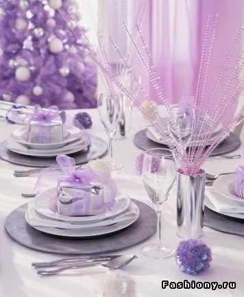 arreglo navideno en color violeta para comedor 2018 (2)