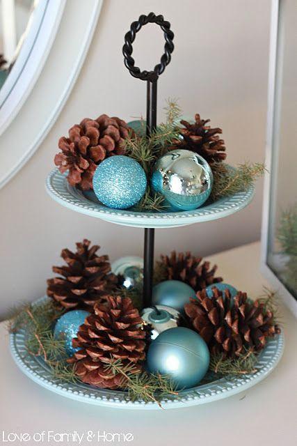 Arreglo navideno en salones color azul celeste 2018 2 decoracion de interiores fachadas para - Arreglos navidenos para la casa ...