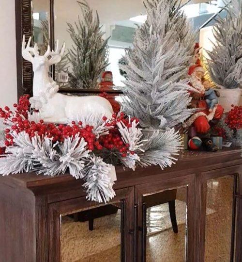 arreglo navideno en salones color blanco 2018 2