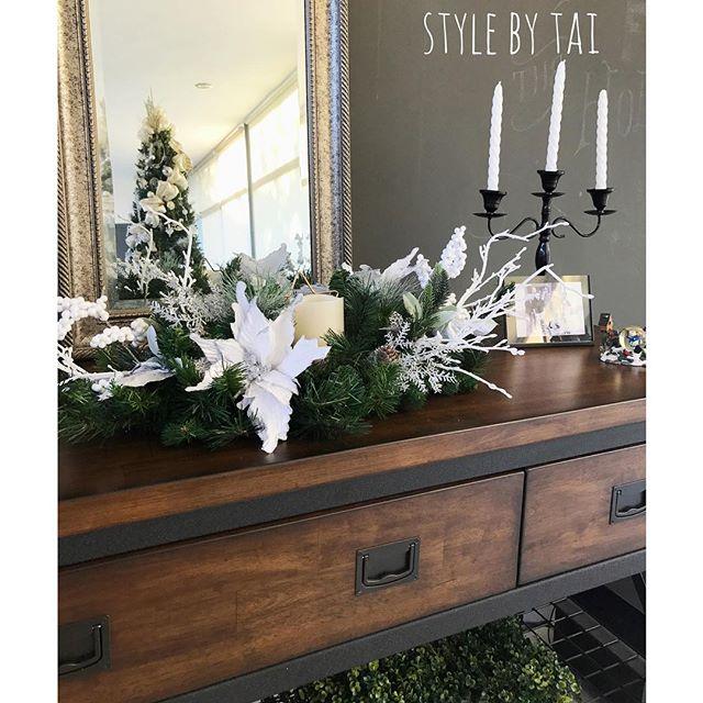arreglo navideno en salones color blanco 2018 (7)
