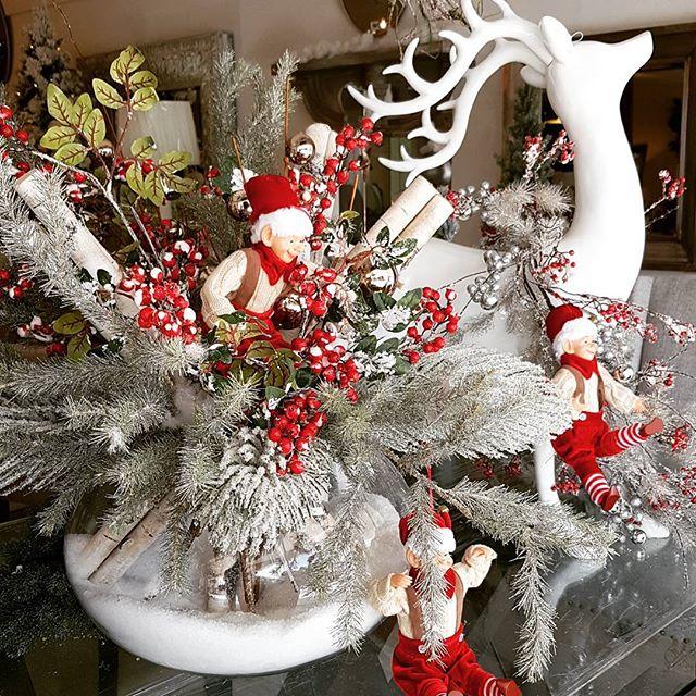 arreglo navideno en salones color rojo 2018