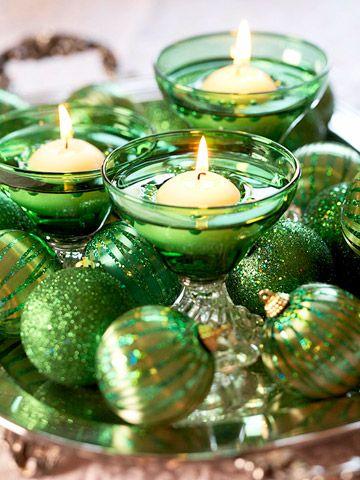 arreglo navideno en salones color verde esmeralda 2018 2