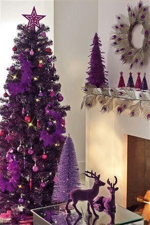 arreglo navideno en salones color violeta 2018 3