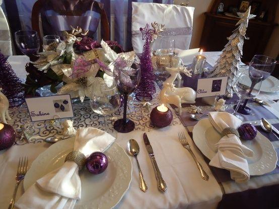 arreglo navideno violeta para comedor 2018 3