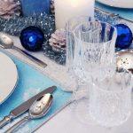 arreglos navidenos para comedores en azul cobalto 2018