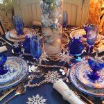 arreglos navidenos para comedores en azul cobalto 2018 4
