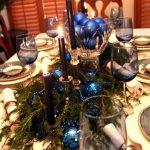 arreglos navidenos para comedores en azul cobalto 2018 6