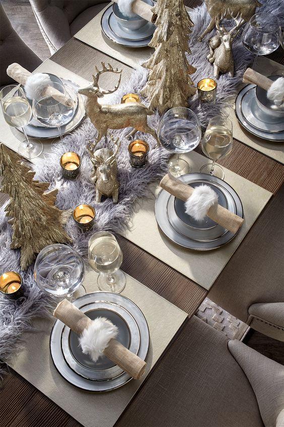arreglos navidenos para comedores en plata 2018 3