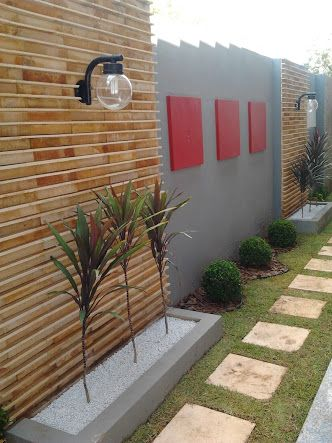 bardas de concreto con madera