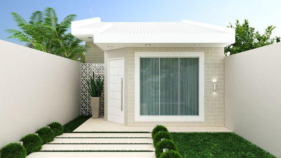 Bardas modernas 100 ideas para a adir una barda a tu hogar for Diseno de frente de casa pequena