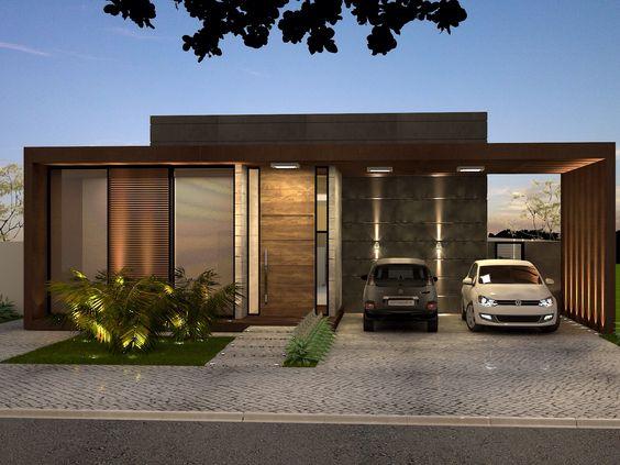 Bardas para fachadas de casas minimalistas 2 como for Casas pequenas estilo minimalista