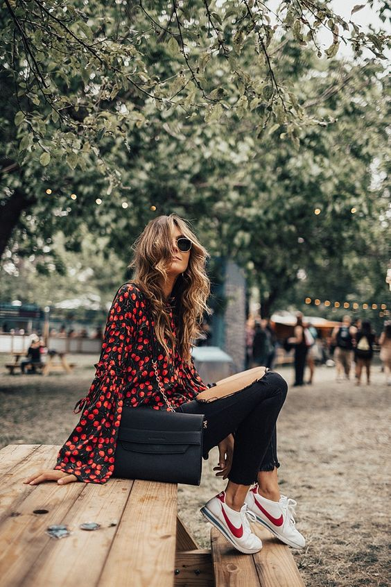 Blusas estampadas con flores
