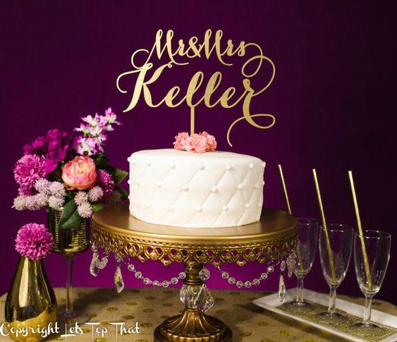 Cake toppers o nombres en corte láser