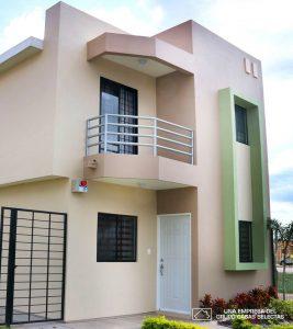 casa infonavit de dos plantas estilo moderno