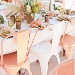 Colores de moda para decorar fiestas Melocotón o Peach