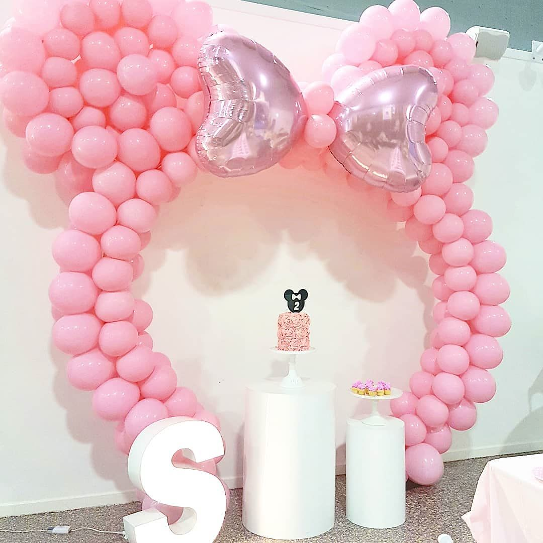 Como Decorar Fiesta Minnie Mouse Rosa Para Primer Ano De