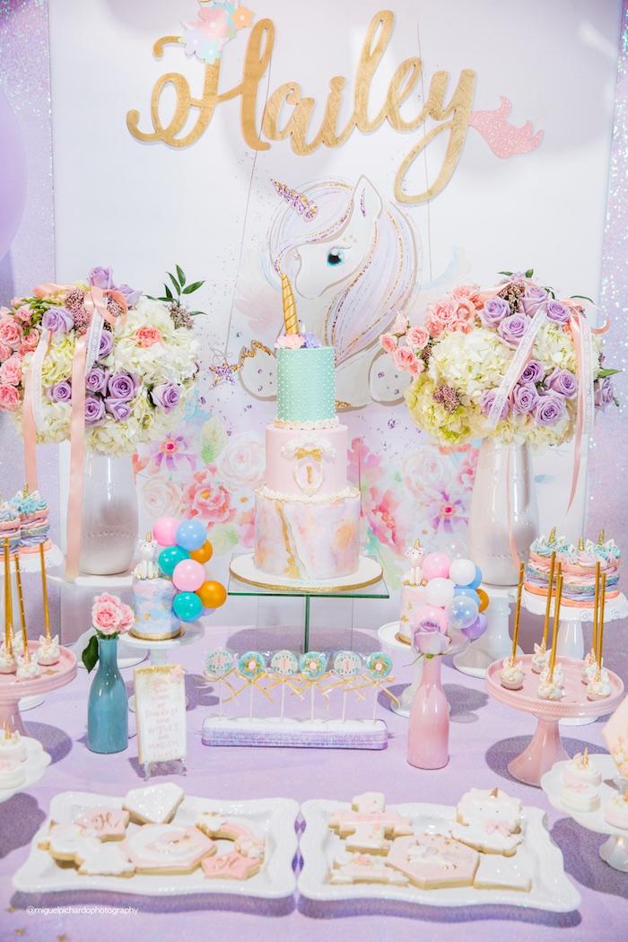 Fiesta primer a o de tu hija celebra el primer a o de tu for Tavolo unicorno