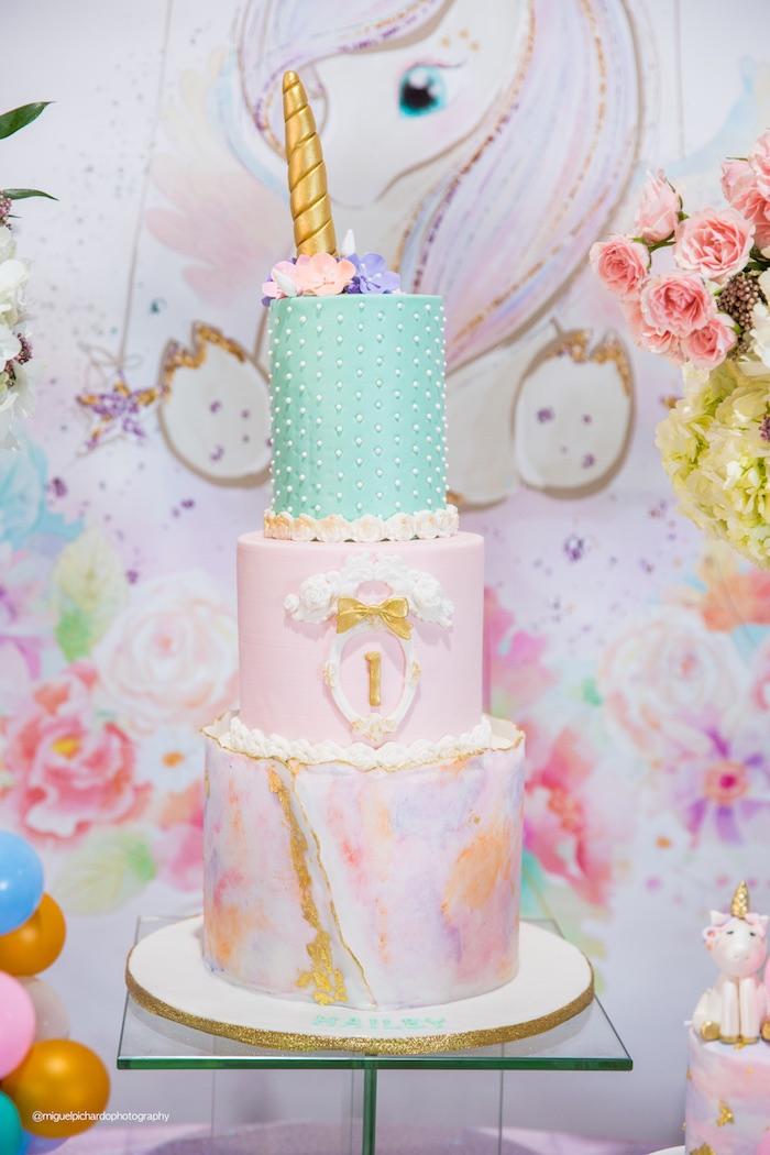 Como decorar fiesta unicornio primer ano de nina 4 for Decoracion para pared de unicornio