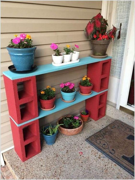 como hacer repisas para plantas exteriores (1)