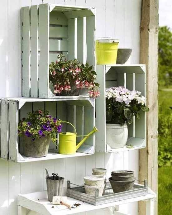 como hacer repisas para plantas exteriores (3)