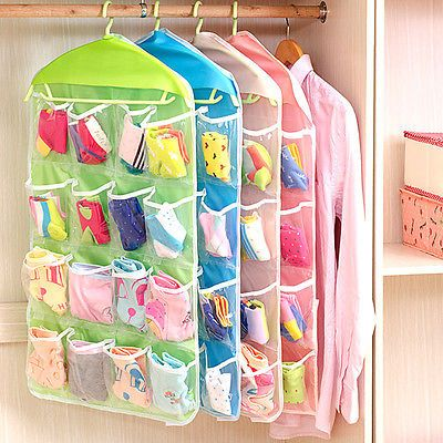 Como hacer un organizador de tela para ropa interior - Organizar ropa interior ...