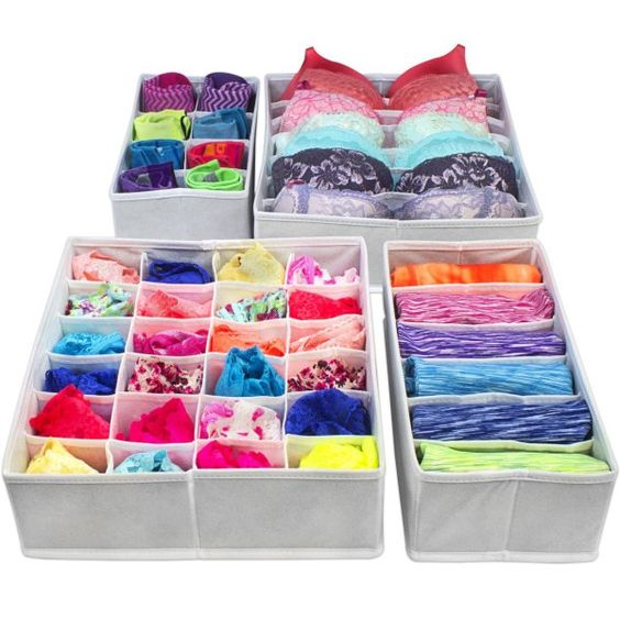 Como hacer un organizador de tela para ropa interior como organizar la casa fachadas - Organizador de ropa interior ...