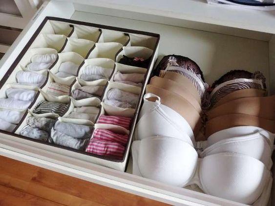 Como organizar lencería
