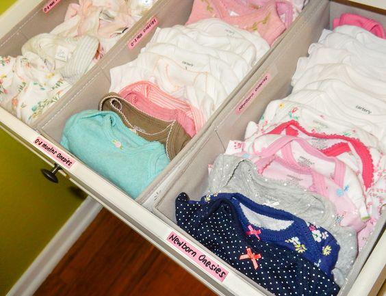 Como organizar ropa interior para niños