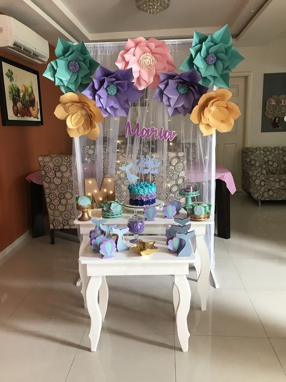 Decoracion cumpleanos de primer ano nina en casa 2 - Decoracion para cumpleanos infantiles en casa ...