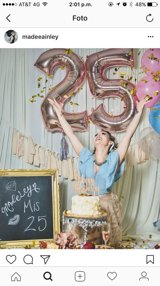 decoracion fiesta de mujer 25 anos