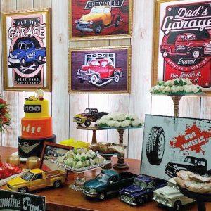 decoracion fiesta hombre tema carros clasicos (1)