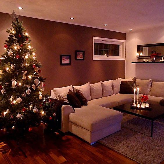Decoracion navidena en color rojo para casas de infonavit 1 decoracion de interiores - Decoracion navidena de casas ...