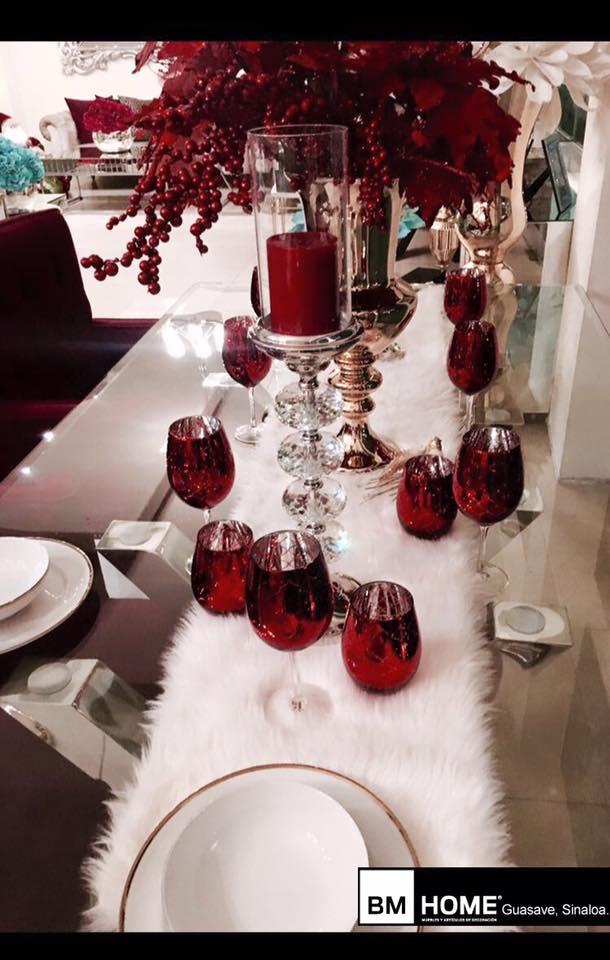 decoracion navidena en color rojo para casas de infonavit (5)