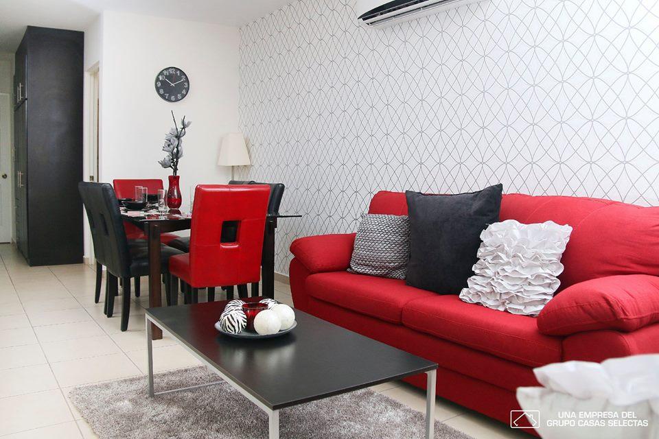 decoracion sala y comedor juntos para casa tipo infonavit