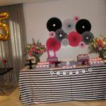 decoracion sencilla para fiesta 25 anos mujer