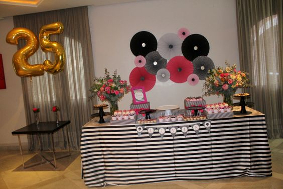 Decoracion sencilla para fiesta 25 anos mujer decoracion - Decoracion fiesta 18 cumpleanos ...