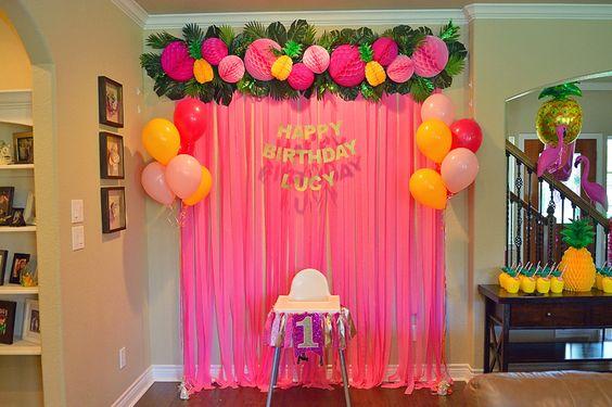 Decoracion sencilla para fiesta de primer ano nina 2 - Decoracion sencilla para casas pequenas ...
