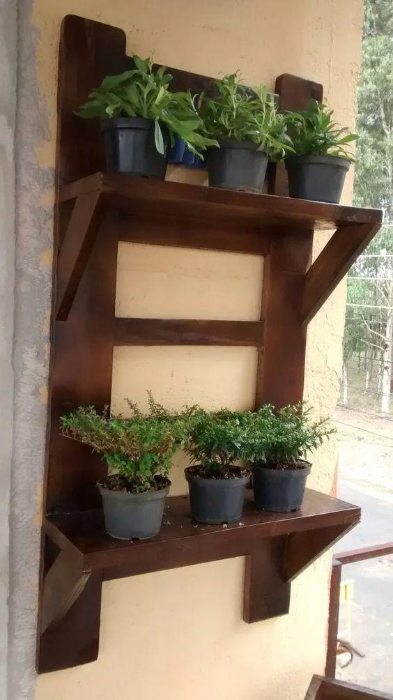 Estantes para macetas jardín