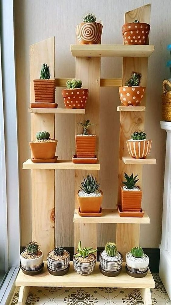 estantes para macetas plantas decoracion de interiores
